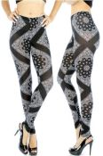 Black & White Paisley Leggings