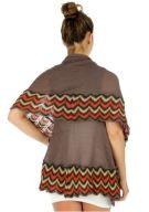 Brown knit vest