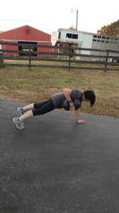 Plank Position With Pull Up