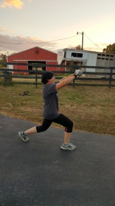 Walking Lunge With A Forward Arm Raise